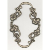 Floral Framework on a Grand Scale Oxidized Brass