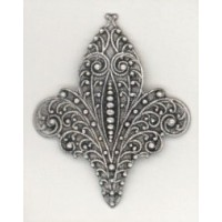 ^Fleur-de-Lys Stamping Oxidized Silver 46mm (1)