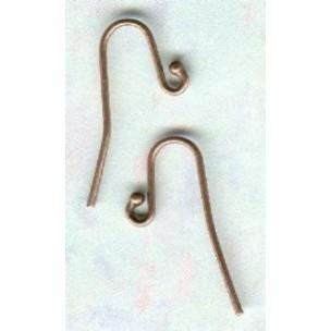 Fish Hook Ball Loop Earring Findings Oxidized Copper