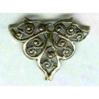 European Filigrees Fancy Triangles Oxidized Brass