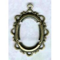Delicate Openwork Fancy Edge Setting Oval 18x13mm Oxidized Brass (1)