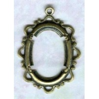 ^Openwork Fancy 18x13mm Setting Oxidized Brass (1)