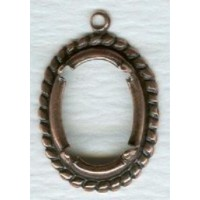 Rope Border Detail Settings 14x10mm Oxidized Copper