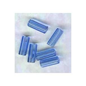 Sapphire Hex Tube Beads Czech Glass 10x4mm