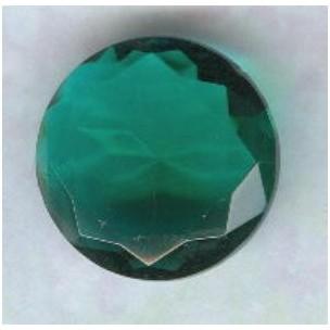 Emerald Glass Round 18mm Unfoiled Jewelry Stone