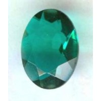 Emerald Glass Oval Unfoiled Jewelry Stones 14x10mm