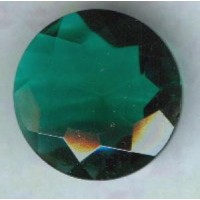^Emerald Glass Round 25mm Unfoiled Jewelry Stone (1)