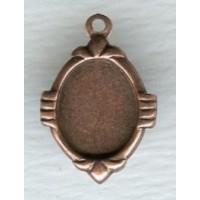 Elegant Setting Pendants 10x8mm Oxidized Copper (12)
