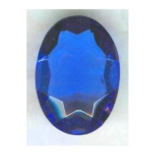 Sapphire Glass Oval Unfoiled Jewelry Stone 18x13mm