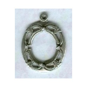 ^Art Deco Style 12x10mm Setting Oxidized Silver (1)