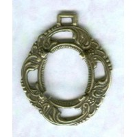 Delicate Openwork 12x10mm Settings Oxidized Brass (2)