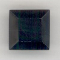 Square Jet Pointed Back Stone 12x12mm