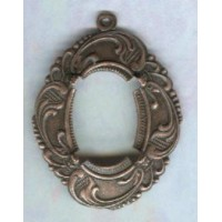 ^Elaborate Floral 18x13mm Setting Oxidized Copper (1)