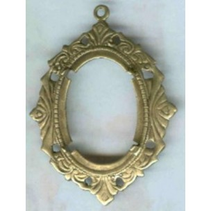 Art Deco Inspired 25x18mm Setting Oxidized Brass (1)