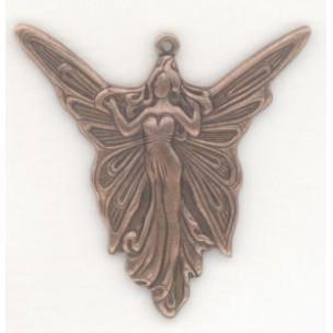 Angel Fairy Goddess 30mm Pendants Oxidized Copper