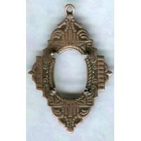^Elaborate Deco Style 14x10mm Setting Oxidized Copper (1)