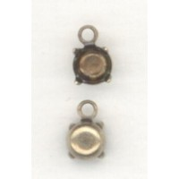 ^Round 5mm Pendant Settings Oxidized Brass