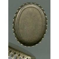 Crown Edge Settings 20x15mm Oxidized Brass (6)