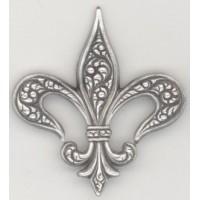 ^Embossed Fleur-de-Lis Oxidized Silver 40mm (3)