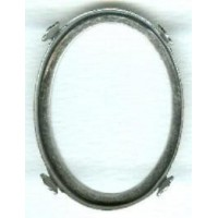 Open Back Setting Frames Oxidized Silver Plated 40x30mm