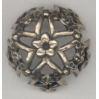 Bowl Shaped Openwork Stamping Oxidized Brass