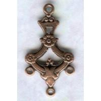 ^Three Strand Connectors Oxidized Copper (12)