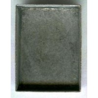 ^Rectangle Bezel Settings 18x13mm Oxidized Silver
