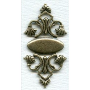 ^Beautiful Details Stamping Oxidized Brass 58mm