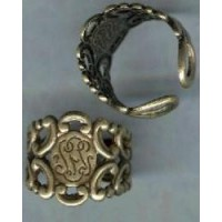 Adjustable Finger Ring Form Oxidized Brass