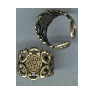 Adjustable Finger Ring Form Oxidized Brass (1)