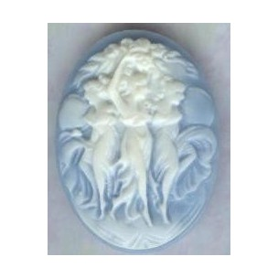 ^Three Muses Cameo Ivory on Blue 40x30mm (1)