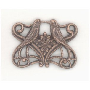 Love Bird Connectors Victorian Romance Oxidized Copper (6)