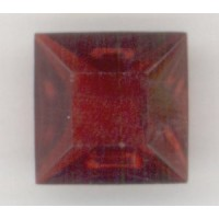 Square Ruby Pointed Back Stones 12x12mm