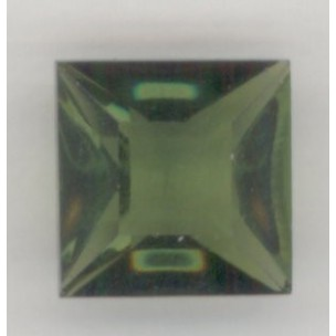 Square Olivine Pointed Back Stones 12x12mm