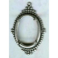 Ancient Design Setting 18x13mm Oxidized Silver