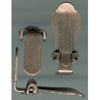 Clip Earring Findings Oxidized Copper