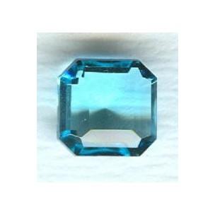Aqua Glass Square Octagon Stones 10x10mm