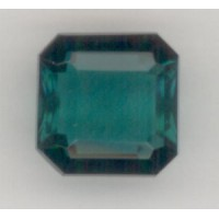 Emerald Unfoiled Glass Square Octagon Stones 12x12mm