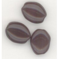 Opaque Dark Brown 8x6mm Flat Oval Beads