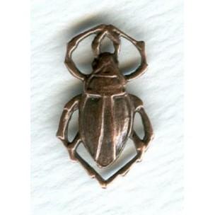Beetle Connectors Oxidized Copper 17mm (6)