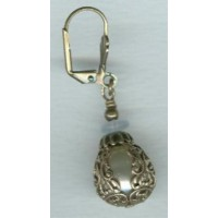Ornate Filigree Teardrop Shape Oxidized Brass Beads