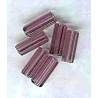 Amethyst Czech Glass Hex Tube Beads 10x4mm
