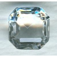 Crystal Glass Square Octagon Stones 10x10mm
