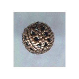 Dramatic Filigree Beads 6mm Round Oxidized Copper