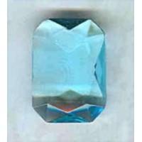 Aquamarine Glass Octagon Stones Unfoiled 14x10mm