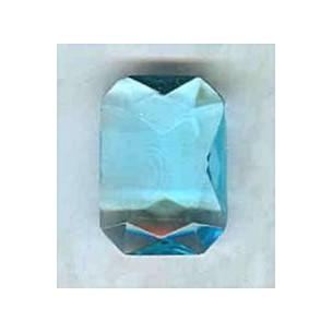 ^Aquamarine Glass Octagon Stones Unfoiled 14x10mm