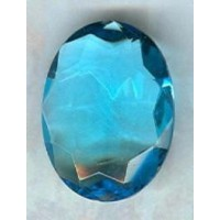 Aquamarine Glass Oval Unfoiled Stones 12x10mm