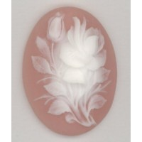 ^Cameo Rose Bouquet White on Angel Skin 40x30mm