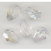 Crystal AB Pear Shape Beads 10x7mm