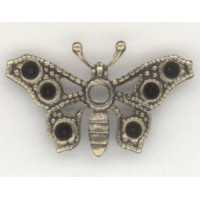 ^Butterflies to hold Rhinestones Oxidized Brass 26mm